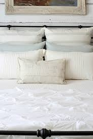 White And Cream Bedding Savvy Southern Style The Softer Shades Of Summer Guest Bedroom