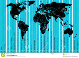 Pacific Time Zone Map World Map And Time Zones Royalty Free Stock Photo Image 23968135