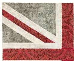 union jack design patchwork rug made from distressed vintage
