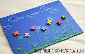 handmade new year card simple platter