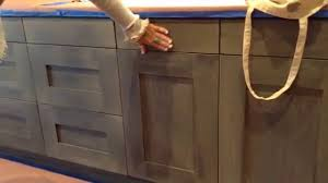 grey stained kitchen cabinets diy weathered wood kitchen finish in a brand new kitchen
