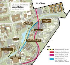 davis map arboretum detour planned for winter uc davis arboretum