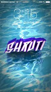 preview of water for name shruti