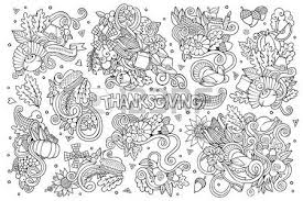 doodles colorful happy thanksgiving