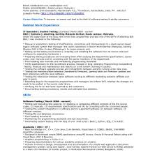 Manual Tester Resume Manual Testing Experienced Resume Software Cover Letter