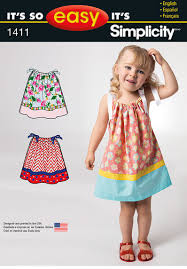 simplicity 1411 it s so easy toddlers dress