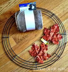 wreath supplies fall burlap wreath tutorial inspiration for