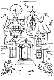 printable spooky house printable haunted house coloring pages for kids haunted house