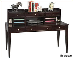 espresso desk with hutch only writing desk hutch topaz wo gx260dh