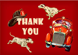 firefighter birthday thank you card party pack 8 cards dolce