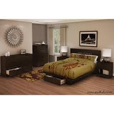 Simple Wood Bed Furniture South Shore Holland 1 Drawer Full Queen Size Platform Bed In Pure