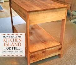 i built my kitchen island for free and you can do it too food