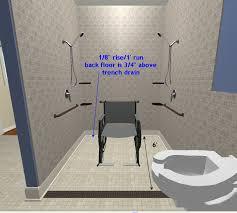wheelchair roll in shower plumbing contractor talk