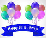 Image result for happy 8th birthday balloons