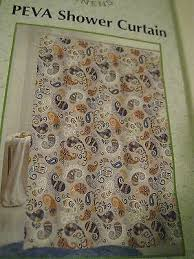 Shower Curtain See Through Vinyl Paisley Shower Curtain Gold Lilac Purple Turquoise See