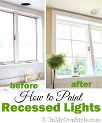 How To Paint Interior Windows How To Paint Recessed Lighting In My Own Style