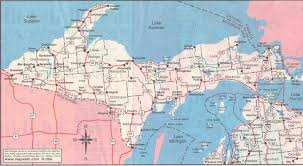 Upper Michigan Map by Chippeny Creek Lodge