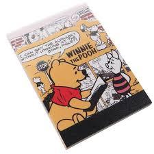 cute die cut winnie pooh mini note pad kamio japan