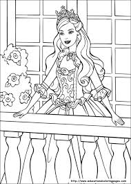 barbie princess coloring pages free kids