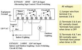 intermatic timer switch wiring diagram circuit and schematics