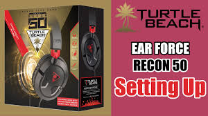 turtle beach black friday how to set up the turtle beach ear force recon 50 on windows pc