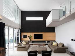 Living Room Recessed Lighting Ceiling Lighting Coffe Table Accent Wall Shag Rug Contemporary