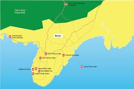 map of suva city suva hotels fijibookings