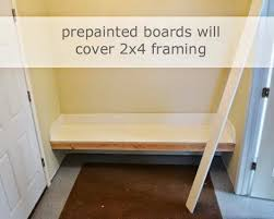 Built In Bench Mudroom Framing Up A Mudroom Bench In A Nook Ana White Woodworking Projects