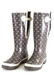 boots uk wide calf wide calf wellies grey with spots the wide welly company