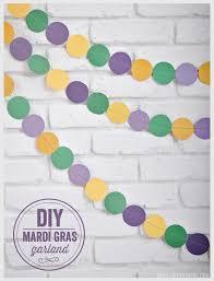 mardi gras paper diy mardi gras garland barone