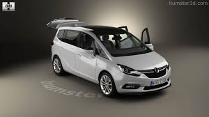 opel zafira interior 360 view of vauxhall zafira c tourer with hq interior 2016 3d