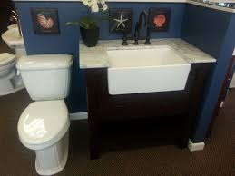 nice bathroom vanity with farmhouse sink