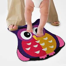 Purple Owl Rug Amazon Com Ustide Purple Owl Rug Handmade Lovely Cartoon Rug Non