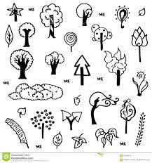 cute trees cute tree sketch vector stock vector image 62338214