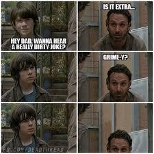 Walking Dead Rick Crying Meme - rick dad jokes google search funny stuff pinterest zombie