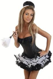 French Maid Halloween Costumes 4 Pc French Maid Costume Cicihot Costume Store