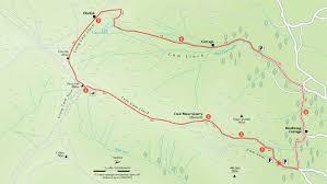 Map A Walking Route by Cwm Llwch Horseshoe Walk National Trust