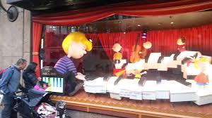 macy s peanuts window displays new york 2015