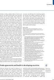 Resume Example Singapore by Trade Agreements And Health In Developing Countries The Lancet