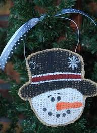 personalized painted burlap ornament burlap ornaments burlap