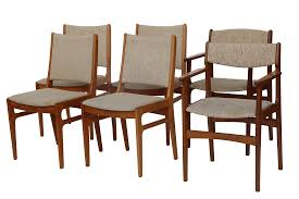 Set Of Teak Dining Table Vintage D Scan Teak Dining Chairs Set Of 6 Chairish