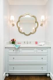Unique Bathroom Mirrors unique bathroom mirrors bathroom transitional with wall sconce