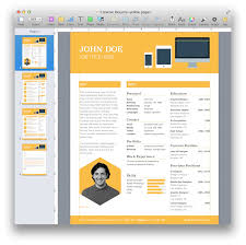 Creative Resume Templates For Word Creative Resume Template For Pages Mactemplates Com