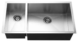 Houzer CTOSL Contempo Stainless Steel  Double Bowl Sink - Contemporary kitchen sink
