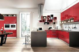 High Gloss Lacquer Kitchen Cabinets Design High Gloss Lacquer Kitchen Cabinets Red Color Modern
