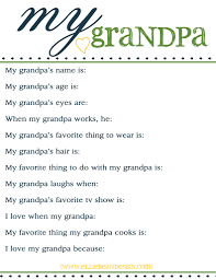 fathers day free printable questionnaire for grandpa www