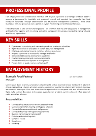 Hospitality Resume Writing Example Corporate Resume Format