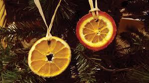 made dried orange tree decorations