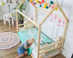 Kids Platform Bed Sweethomefromwood Etsy