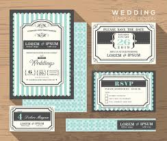 wedding invitation set wedding invitation set design template stock image image of